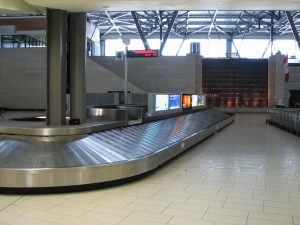 A baggage-handing system